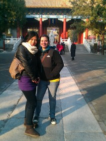 My two lovely travel buddies in the Confucius Temple.