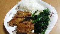 Fish and spinach