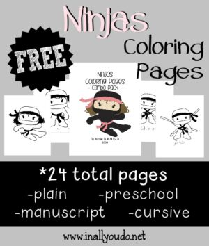 Free Ninja Coloring Pages In All You Do