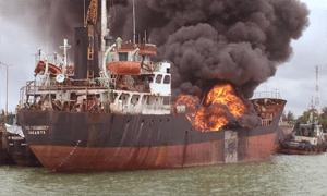 penyebab kebakaran di kapal