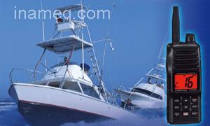 Handheld VHF radio communication for marine type HX150