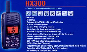 Handheld VHF radio communication for marine type HX300