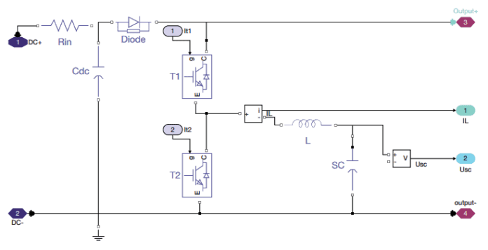 Super-capacitor DC-DC converter model