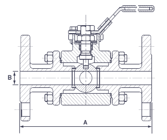 Marine Ball Valves Dimension