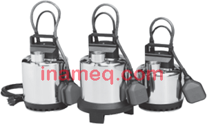 Submersible Electric Pumps for drainage of clean and dirty water