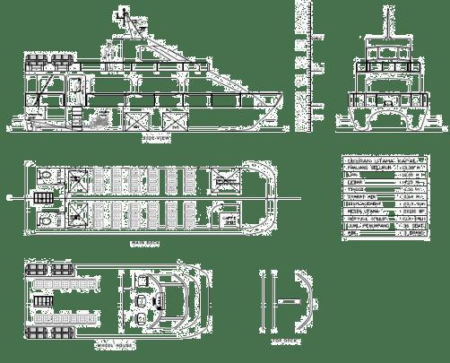 Gambar 10. Rencana Umum Kapal Cepat Catamaran