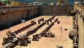 Keel Block in Shipyard