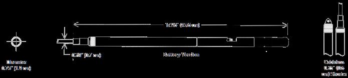 pH-ORP Sensors Type TempHion Seametrics Dimension
