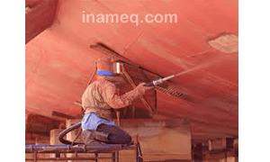 Ship sandblasting