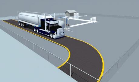 Tampilan 3 dimensi dari terminal penerima LNG di Superblok Summarecon Serpong