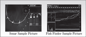 Sonar sample picture and fish finder sample picture