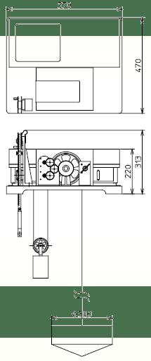 Tide Meter Type DFT-3 Oceanographical Observation Dimensions