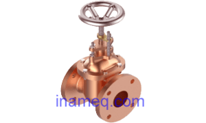 Gate valve on ship