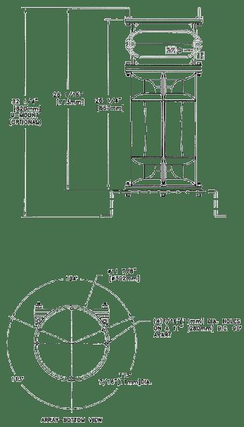 LIEX 710/051 Half Mile Fog Signal Drawing