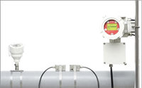 ATEX PT100 transducer fixed to pipe with KATflow 170