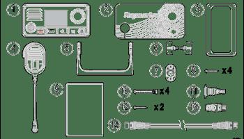 Ray63 VHF Radio Partslist