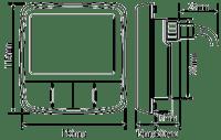 Raymarine i60 Wind Instrument Displays Dimensions