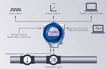Flowmeter Fluidwell Type E126-EL Series For Offshore Input