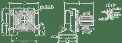cooler dimensions A12 oil cooler 400V to a105 oil cooler 400v