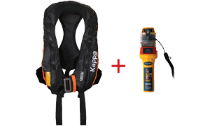 Kappa Inflatable Lifejacket Auto, 180N, ISO 12402-3 with Ocean Signal MOB1
