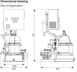 Alfa Laval MIB 503 Module Dimension