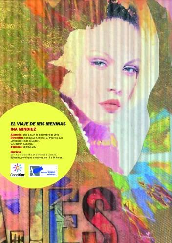 Personal exhibition Ina Mindiuz: El Viaje de mis Meninas in Canal Sur Almería , Spain