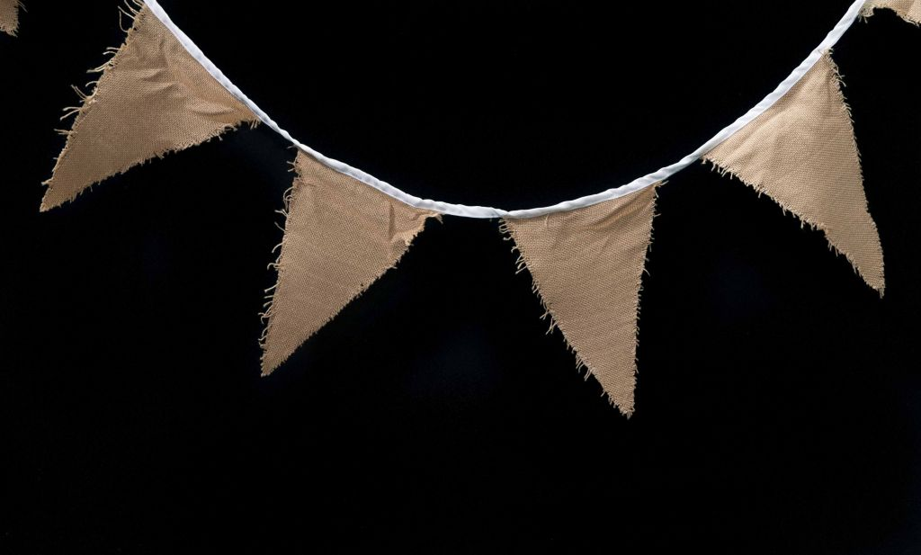 Hessian Bunting Flags Perfect Rustic Style Decoration
