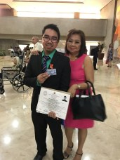 With my Professional ID and Certificate of Registration