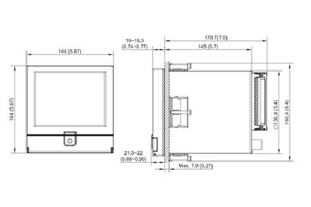 Paperless Recorder PR 20 dimensi