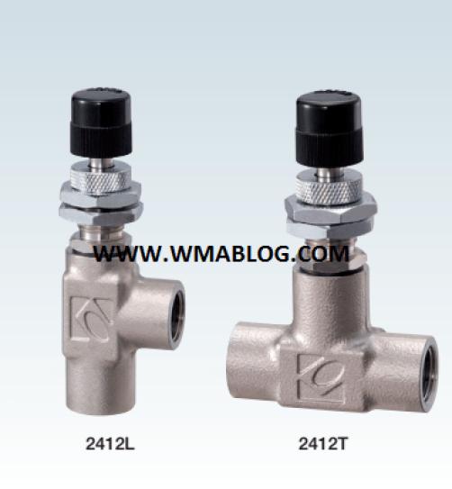 Kofloc Precision Needle Valve w/Non-rotary Needle MODEL 2412 SERIES