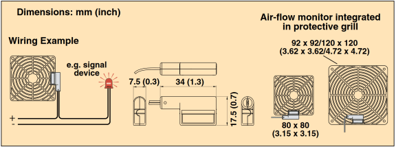 Dimension Omega air flow monitor