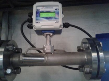 Flow meter air limbah rumah sakit jenis ultrasonic