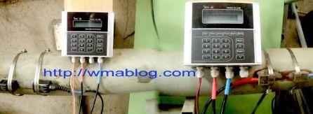 Transducer clamp on Sitelab Ultrasonic flow meter installation