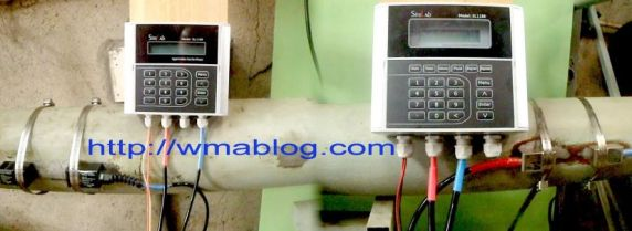 Transducer clamp on Sitelab Ultrasonic flow meter installation