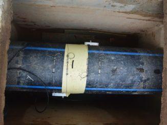 Pemasangan Sensor ultrasonic clamp on flow meter