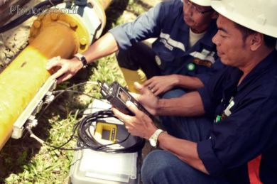 Instalasi Portable Ultrasonic Flow Meter