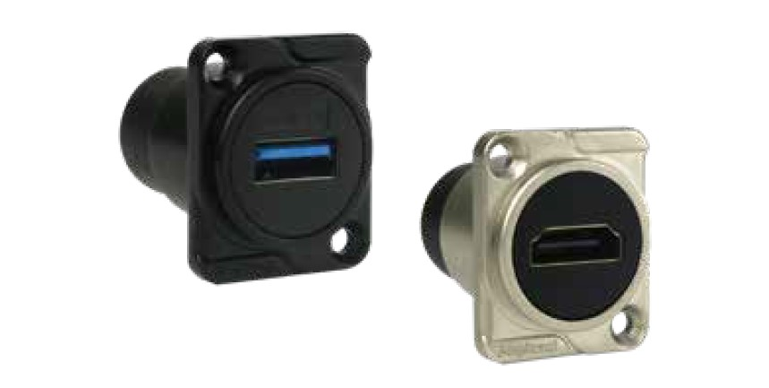 USB/HDMI Amphenol Chassis Mount Data Connectors