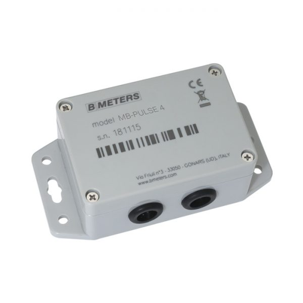 Bmeters MB-PULSE 4 Pulse to Wired M-Bus signal converting module
