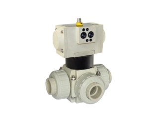Pneumatic 3-Way Ball Valves, Single or Double Acting VP3V S4-PPH