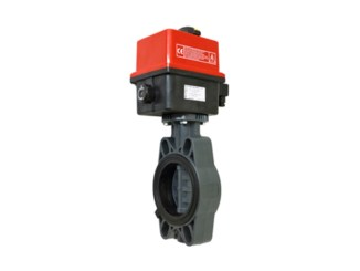 Electrically Actuated Butterfly Valves VEP FE-PVC