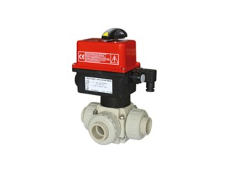 Electrically Actuated 3-Way Ball Valves VE3V S4-PPH