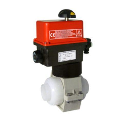VE2V S4-PVDF Bamo Electrically Actuated 2-Way PVDF Ball Valves