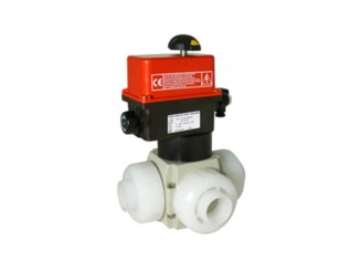 Electrically Actuated 3-Way PVDF Ball Valves VE3V S4-PVDFElectrically Actuated 3-Way PVDF Ball Valves VE3V S4-PVDF
