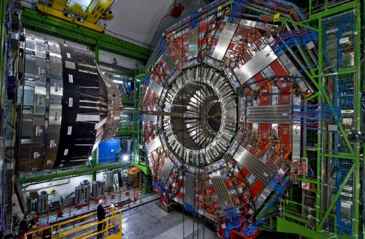 View of the CMS Detector before closure, on August 17th, 2008. (Maximilien Brice; Michael Hoch; Joseph Gobin, © CERN) #