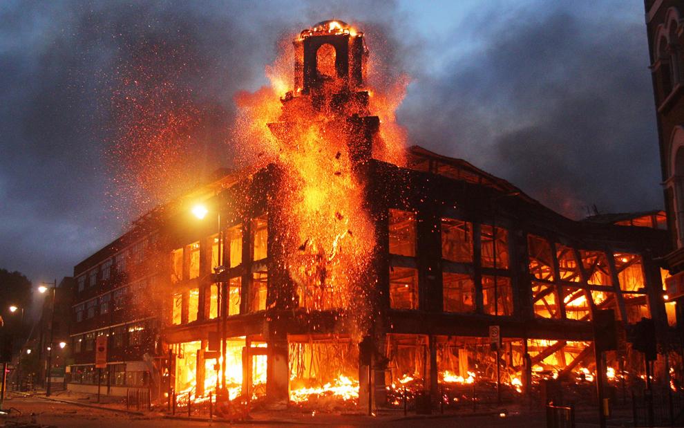 Fire in Tottenham