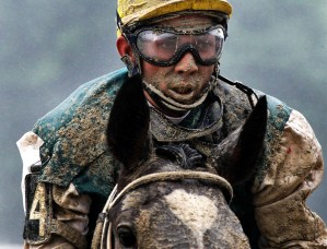 Jockey in the Mud