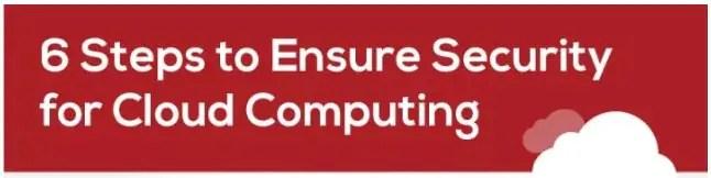 6 STEPS TO ENSURE CLOUD SECURITY