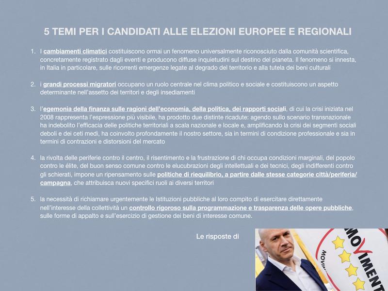 LE RISPOSTE DEI CANDIDATI ALLA PRESIDENZA DELLA REGIONE PIEMONTE: GIORGIO BERTOLA (Movimento 5 stelle)