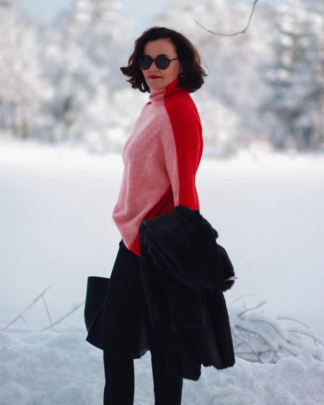inastil, fashion, Wntermode, Leopoldskron, Salzburg, livingcoral, pantone, rosen, rosa, Pullover, Ü50Mode, ageless, ü50blogger,_-10