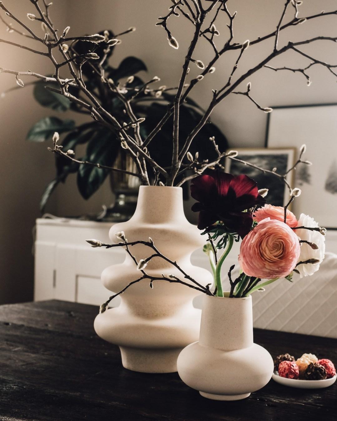 Inastil, Limettenkokosfisch, Fischgericht, Blumendekoration, Ranunkeln, Blütenzweige, Blütenzauber, Rezept,-13